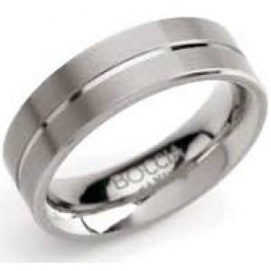 Boccia Titanium gladde ring mat/poli 6 mm model 0101-07 - 210051