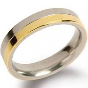 bi-colour titanium Boccia ring model 0129-02 - 205014