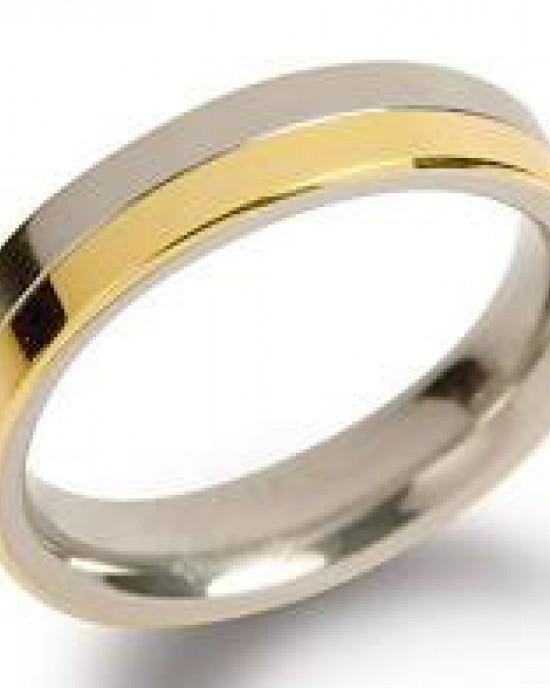 bi-colour titanium Boccia ring model 0129-02 - 205014