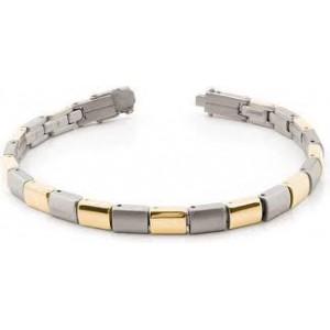 Boccia bicolor titanium fantasie schakelarmband, 21 cm, refnr : 0313-02 - 204711