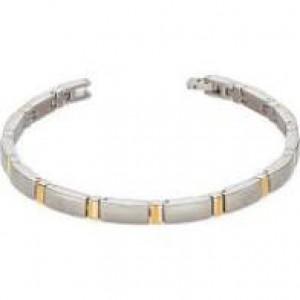Boccia bicolor titanium fantasie schakelarmband, 21 cm, refnr : 0371-02 - 203180