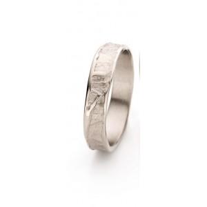18 krt champagnekleurig gouden Ines Bouwen partnerring model 046_1, ca 4,5 mm brede handgemaakte ring - 212044