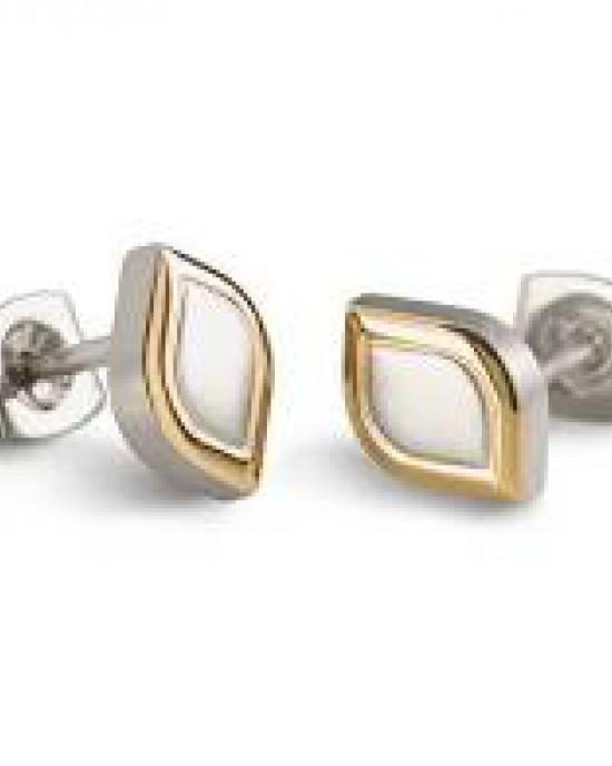 Boccia bicolor titanium fantasie oorsieraden mat/poli , refnr : 05011-02 - 207577