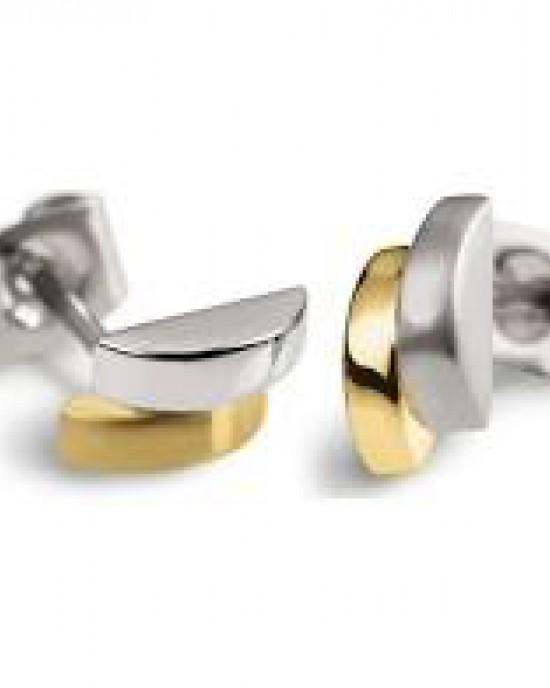Boccia bicolor fantasie titanium oorstekers ; model 0552-03 - 203392