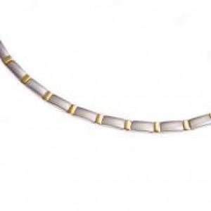 Boccia bicolour titanium fantasie schakelcollier modelnr : 0845-02 - 203395