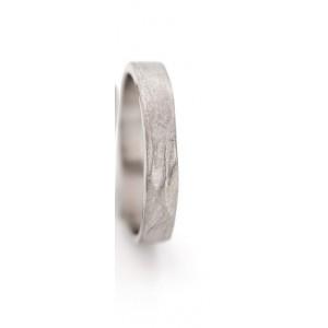 18 krt witgouden Ines Bouwen ring handgesmeed, model 1_6, ca 4 mm breed - 213263