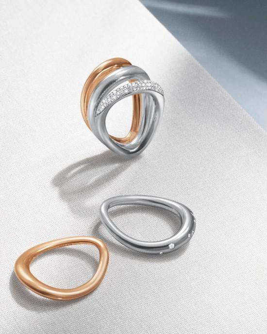 Georg Jensen 18 krt rosé gouden ring model Offspring 1433A - 209453