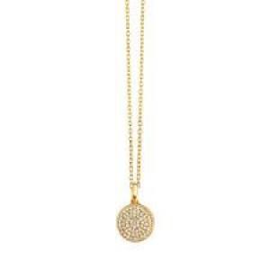 SPIRIT ICONS, Collier met hanger, zilver geelverguld, Energy met zirkonia - 206865