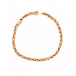 14 Karaats roségouden Monzario fantasieschakel armband, 19 cm, 1183A - 212662