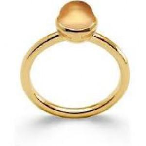 bastian Zilveren geelvergulde ring met citrien, gepolijst - 208345