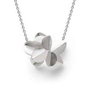 bastian Zilveren hanger, gematteerd, fantasie aan anker collier - 209376