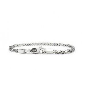 Silk armband, geoxydeerd zilver met karabijnhaak, koningsschakel - 209510