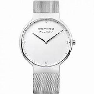 """Bering horloge """" design by Max Rene """" met edelstalen kast en stalen milanaise band refnr : 15540-004 - 211162"""