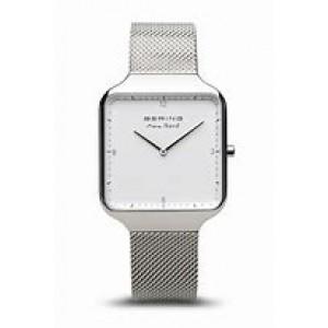 "Bering horloge "" Max Rene "" stalen rechthoekige kast en stalen milanaise band , refnr 15836-004 - 212146"