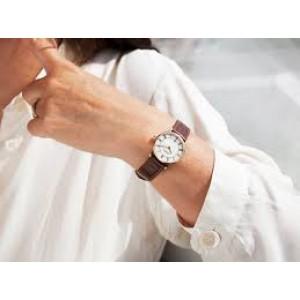 """Michel Herbelin horloge """" Classique """" zwitsers uurwerk; stalen kast PVD geel verguld + lederen band, datumaanduiding + saffierglas - 211098"""