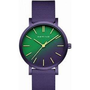 """Bering horloge """" True Aurora 34 mm """" ronde kast in kleur gecoat en voorzien van een gekleurde rubberen band - 211766"""