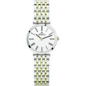 """Michel Herbelin horloge """" Epsilon """" zwitsers uurwerk; extra platte bicolor stalen kast en band,  saffierglas , lichte wijzerplaat + romeinse cijferaanduiding - 211113"""
