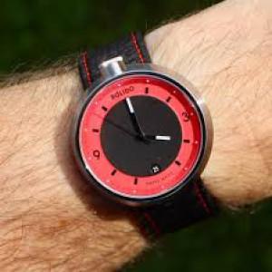 Bolido design horloge, automaat swiss made, model Halo Red met een stalen kast, aan beide zijde's een saffierglas - 211084