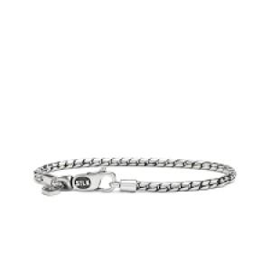 Silk armband, geoxydeerd zilver met karabijnhaak - 210124
