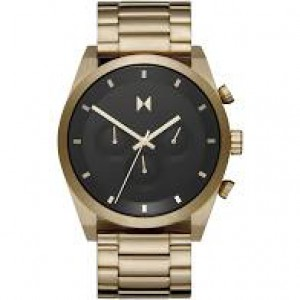 "MVMT "" Element Chrono Atomic Gold 44 mm ""  stalen kast + band zijn geel verguld, 28000047-D - 211305"
