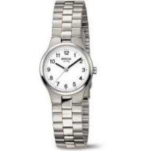 Boccia titanium dameshorloge met arabische wijzerplaat, model 3082-06 - 210168