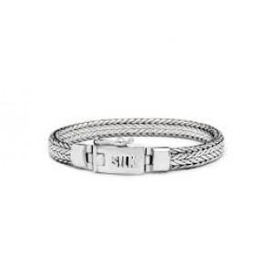 silk armband, geoxydeerd zilver met insteekveer en veiligheidsachtje - 209333
