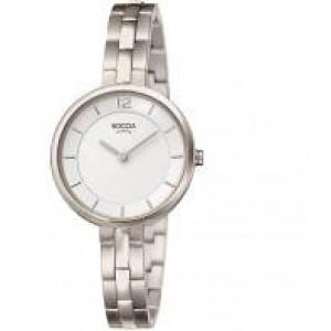 Boccia titanium dames horloge met mat/poli schakelband rref 3267-01 - 207570