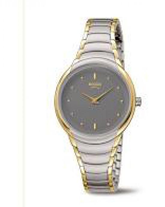 Boccia bicolor titanium dames horloge , met grijze wijzerplaat, refnr 3276-13 - 212526
