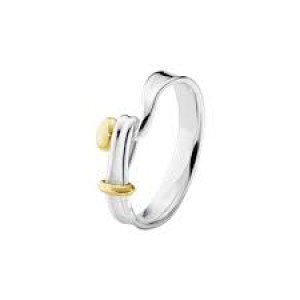 Georg Jensen zilveren ring model Torun deels verguld - 209429