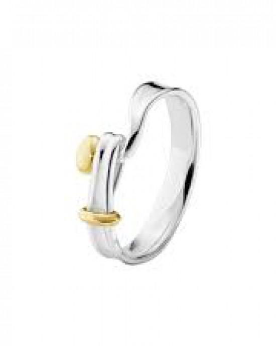 Georg Jensen zilveren ring model Torun deels verguld - 209429