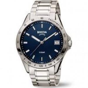 Boccia titanium heren horloge, zwarte wijzerplaat en saffierglas en 10 ATM waterdicht, refnr : 3597-01 - 207795