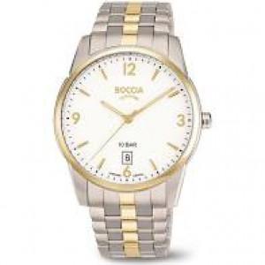 Boccia bicolor titanium horloge, lichtgrijze wijzerplaat en saffierglas,refnr : 3632-02 - 212530