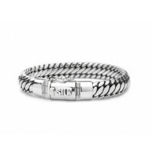 silk armband, geoxydeerd zilver met insteekveer en veiligheidsachtje - 209337