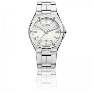 "Michel Herbelin horloge "" Cap Camarat Chrono "" zwitsers uurwerk; stalen kast + band, saffierglas, 10 atm WD - 211104"