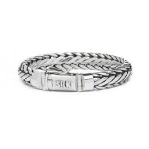 silk armband, geoxydeerd zilver met insteekveer en veiligheidsachtje - 209338