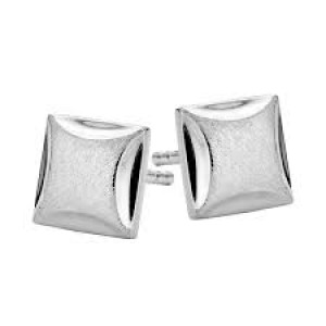 SPIRIT ICONS, oorstekers, zilver, square - 206811
