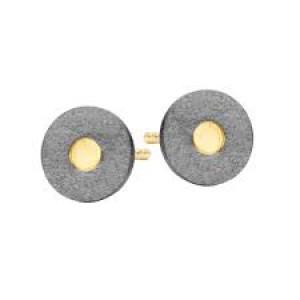 SPIRIT ICONS, oorsteker zilver geoxideerd, doublé model RAW - 208555