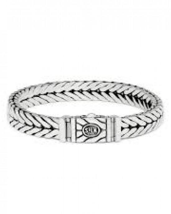 silk armband, geoxydeerd zilver met dubbelzijdig slot - 209308