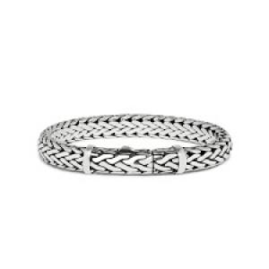 silk armband, geoxydeerd zilver met insteekveer model 424 - 209463