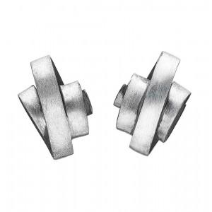 Rabinovich Zilveren oorstekers, gematteerd - 203288