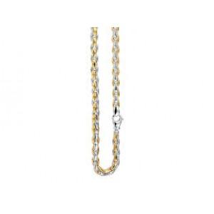 14 krt bicolor gouden MONZARIO fantasie collier 45 cm ; 615 C bic - 209263