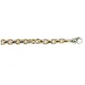 MONZARIO 14 karaats geel- en witgouden fantasieschakel armband, model 615a - 212655