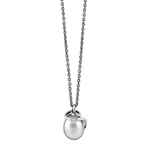 rabinovich collier compleet, geoxydeerd zilver met cultivé parel - 205885