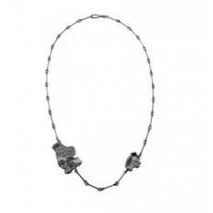 The KUU Lapponia collier 50 cm geoxydeerd zilver ontworpen door Martin Bergström - 209080