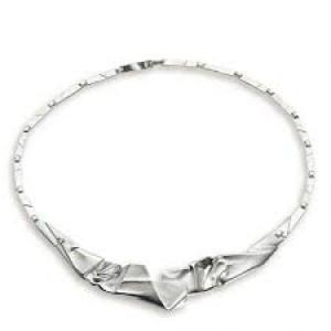 "zilveren Lapponia halssieraad "" Origami 127 "" ; modelnr : 663127 , lengte 42,5 cm - 207052"