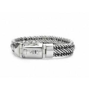 silk armband, geoxydeerd zilver met insteekveer en veiligheidsachtje - 209353
