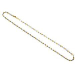 14 krt bicolor gouden Monzario fantasieschakel collier, refnr : 836C - 301047