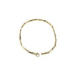 14 krt geelgouden Monzario fantasie schakel armband met karabijnhaak, 19 cm model 866A - 212657
