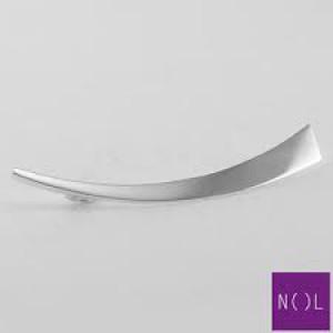 een NOL handgesmede zilveren langwerpige broche, AG86507 - 200190