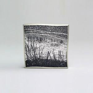 Gill Galloway hanger landschap in geoxydeerd en puur zilver - 301752